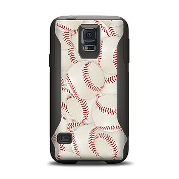 The Baseball Overlay Samsung Galaxy S5 Otterbox Commuter Case Skin Set
