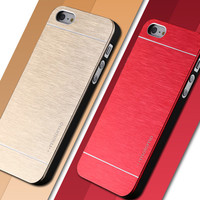 4 4s Deluxe Aluminum Metal Brush Case For iphone 4 4S Mobile Phone Back Cover Motomo Logo For Iphone4 YXF03883