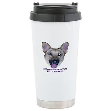 GERMAN SHEPARD ELECTION TRAVEL MUG