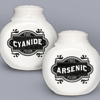Sinister Seasonings Salt & Pepper Shakers - PLASTICLAND