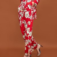 FLORAL PRINT TROUSERS Look+: 1 of 2