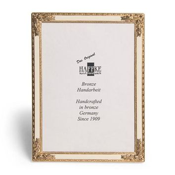 Bronze Beige Enameled Photo Frame
