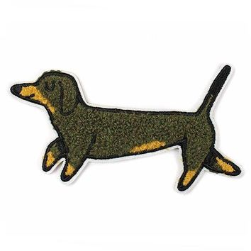 Weiner Dog Chenille Patch