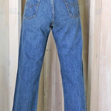 Vintage Levis 517 jeans 34 X 32  size 10 / 12 / orange tab high waisted straight leg Levis / mens or womens