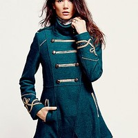 Free People Womens Military Wool Coat