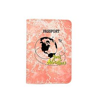 Your Adventure Marble Granite Pattern [Name Customized] Passport Holder - Novelty Leather Passport Cover - Vintage Passport Wallet - Travel Accessory Gift - Travel Wallet for Women and Men_LOKISHOP