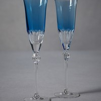 Lapis Toasting Flutes in  the SHOP Decor Tabletop at BHLDN