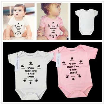 Cute Letters Printed Funny Baby Onesuit Baby Shirt Baby Bodysuit Newborn Infant Romper