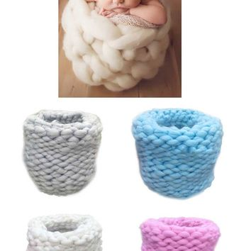 Photography Props Baby Photo Braided Cocoon Baskets For Newborns (Multiple Colors Available) - PRA2