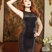 Black Patch Illusion Club Dress