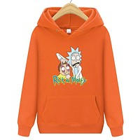 Rick Morty Unisex Cotton Hooded Sweatshirt