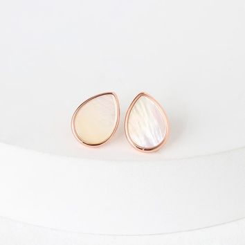 Illuminate the Night Rose Gold and Pearl Earrings