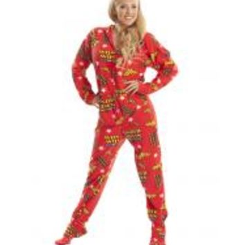 Superhero Footie Pajamas for Adults - DC Comics