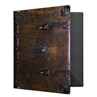 Vintage Faux Leather Gothic Binder