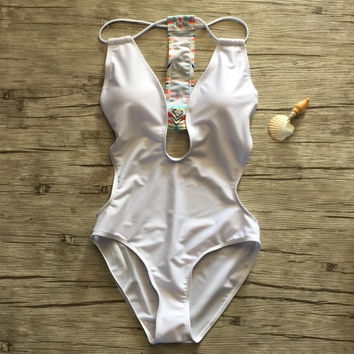 One Piece Swimsuit Backless Swimming Bathing Suits Bodysuit