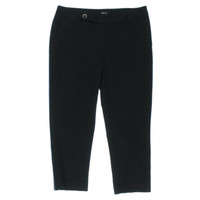 Style & Co. Womens Petites Twill Tummy Control Capri Pants