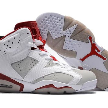 f38898f96b6a2b Air Jordan Retro 6 Hare Alternate 91 Basketball Shoes Men 6s Hare 1991  White Red Athletics
