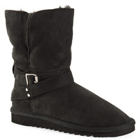 Aeropostale  Womens Faux Suede Buckle Core Boots
