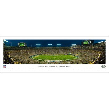 NFL Green Bay Packers 50 Yard Night Photographic Print