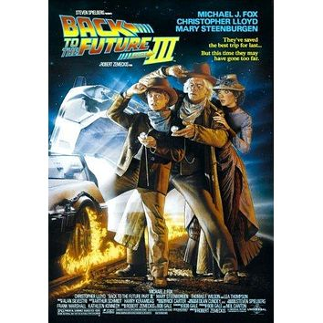 Back To The Future 3 Movie Poster 11 inch x 17 inch poster