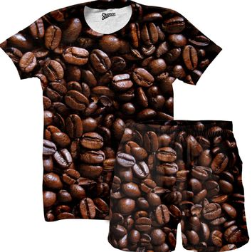 Coffee Beans Shirt and Shorts Combo