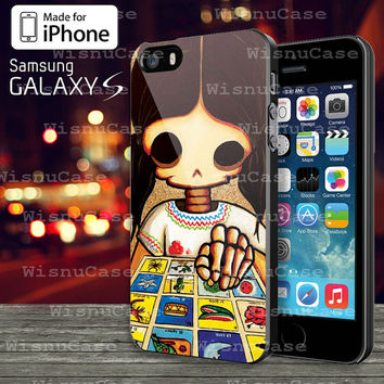 Day Of The Dead Skeleton Girl Case For iphone 4/4s,5/5s/5c and Samsung Galaxy S3/S4/S5
