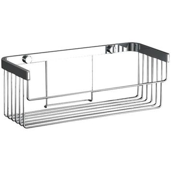 Sonia HOSPITALITY Wall Bath Rectangular Chrome Shower Caddy Shelf Organizer