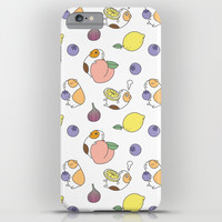 Guinea pig and fruits pattern iPhone Case by noristudio