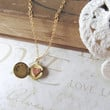 SECRET petite vintage locket necklace with single by brideblu