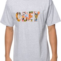 Obey Collage Fill Heather Grey T-Shirt