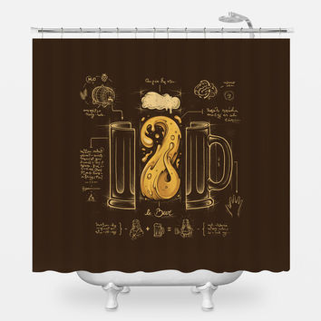 Le Beer (elixir of life) Shower Curtain