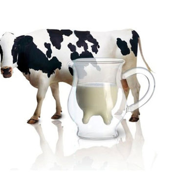 Cow Milk Glass Cup Mug Heat-resistant
