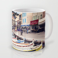 Boats in Cassis Harbor Mug by Around the Island (Robin Epstein)