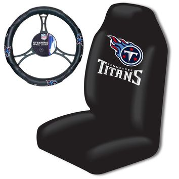 Tennessee Titans NFL Car Seat Cover and Steering Wheel Cover Set