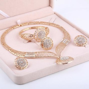 Exotic: Dubai Gold Color Jewelry Sets