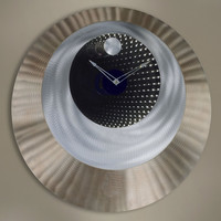 "0-002138>32""h LED Infinite Clock Brushed Aluminum"