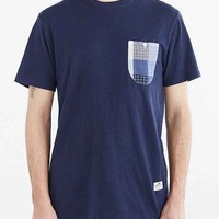 Penfield Roseland Woven Pocket Tee- Navy