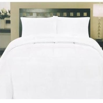 Cozy Home Down Alternative 8 Piece Embossed Comforter Set - White (Queen)