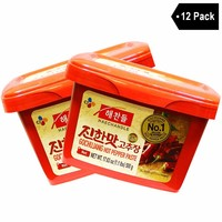 haechandle - Gochujang Hot Chile Paste, Made in Korea, 1.1 lbs (12-Pack)