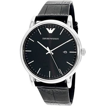 Emporio Armani Men's AR2500 Black Leather Quartz Dress Watch