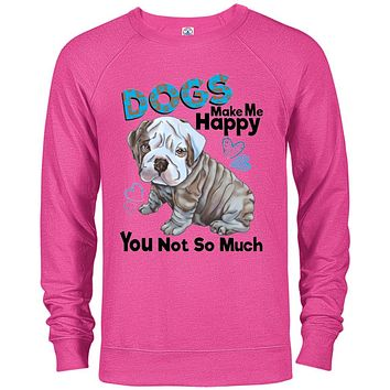 English bulldog Sweater Dogs Make Me Happy