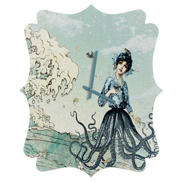Belle13 Sea Fairy Quatrefoil Clock