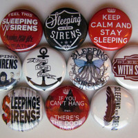 Sleeping With Sirens Pinback Button Badge Pin (pack of 10)