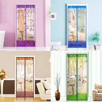 4 Color Curtain Anti Mosquito Magnetic Tulle Shower Curtain Door