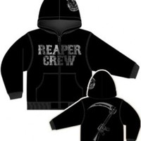 Sons of Anarchy Reaper Crew Zip Up Adult Black Sweatshirt Hoodie - Sons of Anarchy - | TV Store Online