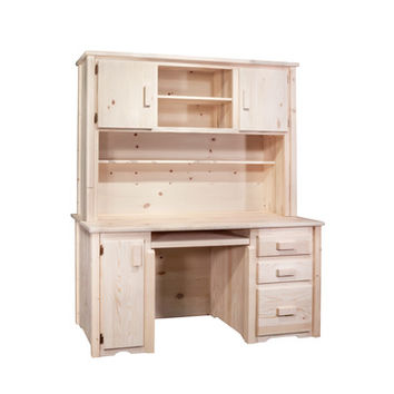 Montana Woodworks Homestead Desk with Hutch Lacquered