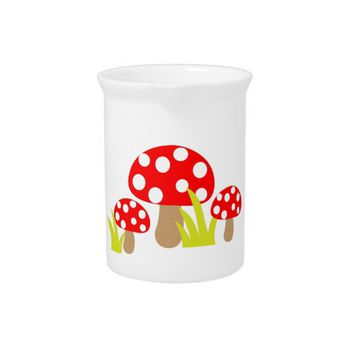Mushrooms Drink Pitcher