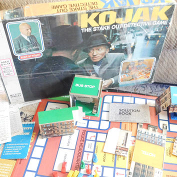 KOJAK Game Board 1975, Movie board Game, Tv Game Board, Vintage Game Board, Game Board, Toys, Vintage Toys, Strategy, use for prop :)s*