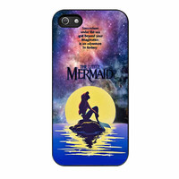 Ariel The Little Mermaid In Galaxy iPhone 5s Case