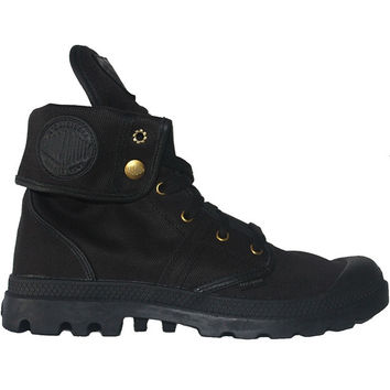 Palladium Pallabrouse Baggy - Black Canvas Snap-Over High Top Sneaker